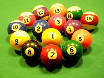 Spiral made from billiard balls Stock Images