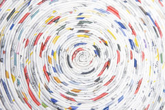 Spiral made of rolled paper Royalty Free Stock Image