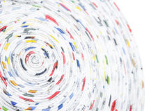 Spiral made of rolled paper Royalty Free Stock Photography