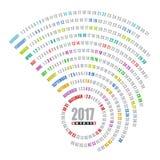 spiral mall för 2017 kalender Royaltyfria Foton