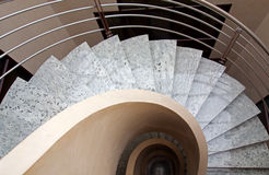 Spiral Marble Office Stairs Stock Photography