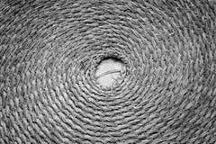 Spiral Mat Black och vit Arkivbild