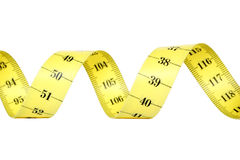 Spiral Measuring Tape Royalty Free Stock Photos