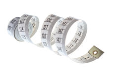 Spiral measuring tape Royalty Free Stock Image