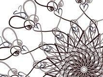 Spiral med hjärtor royaltyfri illustrationer