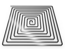 The spiral of metal №2 Stock Image