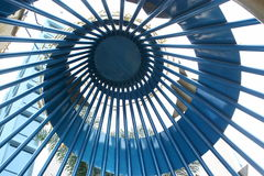 Spiral Metal Ceiling. Of a business building stock photo