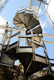 Spiral Metal Stairs Stock Photo