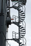 Spiral metal stairs. Royalty Free Stock Photography