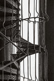 Spiral metallisk trappa Royaltyfria Bilder
