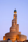 Spiral minaret of Islamic center in Doha Qatar royalty free stock images