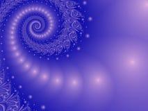 Spiral Misty Blue Arkivfoto