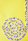 Spiral modell av knappar Royaltyfri Foto