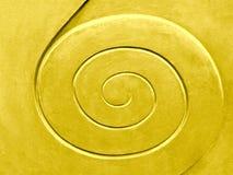 Spiral modell, guld- kulört arkivfoto
