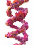 Spiral molekylär struktur stock illustrationer