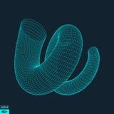 spiral molekylärt galler Anslutningsstruktur vektor 3d Royaltyfria Foton