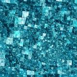 Spiral mosaisk bakgrundsmodell - fyrkanter i blått Royaltyfri Foto