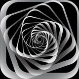 Spiral motion. Abstract background. Vector illustration Stock Images