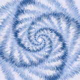 Spiral motion optical illusion. Abstract blue background. Illustration Royalty Free Stock Images
