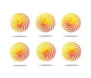 Spiral motion 6 set. Stock Photos