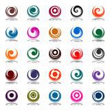 Spiral movement in circle shape. Design elements Royalty Free Stock Images