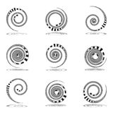 Spiral movement. Design elements set. Royalty Free Stock Photos