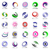 Spiral movement and rotation. Design elements. Royalty Free Stock Images