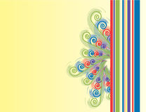 Spiral n Stripe Background. A colorful Spiral n Stripe background with floral curves royalty free illustration