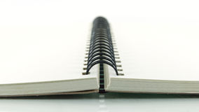 Spiral note book Stock Images