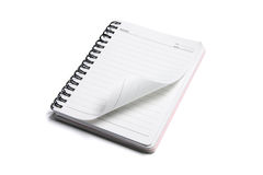 Spiral Note Pad. On White Background Stock Photo