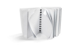 Spiral Note Pad. On Isolated White Background Royalty Free Stock Photo