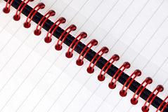 Spiral note pad. A fragment of the spiral note pad Stock Image