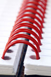 Spiral note pad. A fragment of the spiral note pad Royalty Free Stock Image