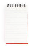 Spiral  note pad. Spiral bound note pad isolated Royalty Free Stock Photography
