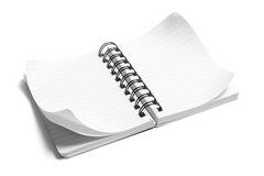Spiral Note Pad. On White Background Royalty Free Stock Images