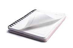 Spiral Note Pad. On White Background Stock Photos