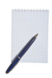 Spiral note pad with pen Stock Images