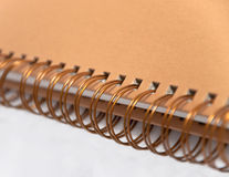 Spiral notebook. A closeup shot of a isolated spiral notebook Royalty Free Stock Photography