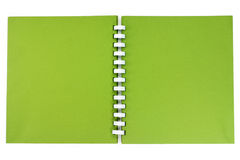 A spiral notebook. Stock Images