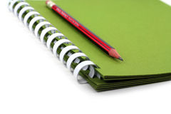 A spiral notebook. Royalty Free Stock Photography