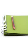 A spiral notebook. Royalty Free Stock Images
