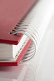 Spiral notebook. Macro view of blank spiral notebook Royalty Free Stock Photography