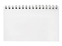Spiral notebook. Isolated on white background Stock Photo