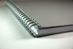 Spiral Notebook. Close up Spiral Notebook with soft shadown Royalty Free Stock Photo