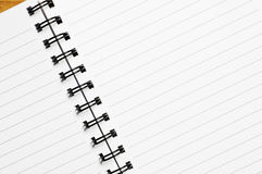 Spiral notebook. Royalty Free Stock Photography