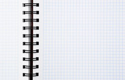 Spiral notebook background Royalty Free Stock Photos