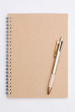 Spiral notebook with ballpoint Stock Images