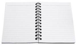 Spiral notebook blank paper Stock Photo