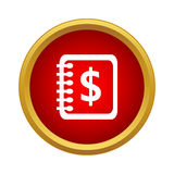 Spiral notebook with dollar sign icon simple style Stock Photography