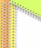 Spiral Notebook frame on a white background Royalty Free Stock Photos